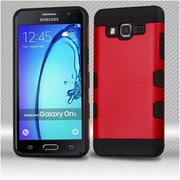 Insten Hard Dual Layer TPU Cover Case For Samsung Galaxy On5 - Red/Black