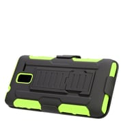 Insten Stand Dual Layer Hybrid Case with Holster For Kyocera Hydro View - Black/Green