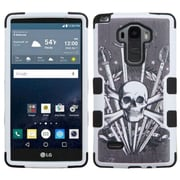 Insten Tuff Sword Skull Hard Dual Layer Silicone Case For LG G Stylo - Black/White