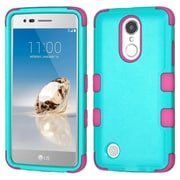Insten TUFF Hybrid Shockproof Case For LG Aristo / Fortune / K8 (2017) / LV3 / Phoenix 3 - Teal Green/Electric Pink