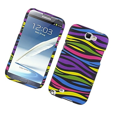 Insten Zebra Hard Rubberized Cover Case For Samsung Galaxy Note II - Colorful