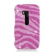 Insten Zebra Hard Diamond Case For Nokia Lumia 822 - Hot Pink/Pink