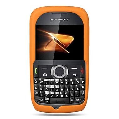 Insten Premium Silicone Skin Gel Back Soft Case Cover For Motorola Theory - Orange