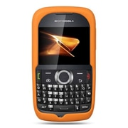 Insten Premium Silicone Skin Gel Back Soft Case Cover For Motorola Theory - Orange