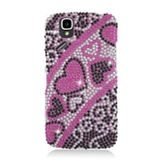 Insten Hearts Hard Full Diamond Cover Case For Pantech Flex P8010 - Hot Pink