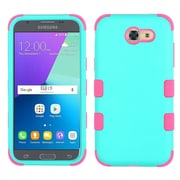 Insten Tuff Hard Dual Layer Rubberized Silicone Cover Case For Samsung Galaxy J3 (2017) - Teal/Pink