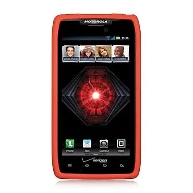 Insten Silicone Skin Gel Back Soft Case Cover For Motorola Droid Razr Maxx - Orange