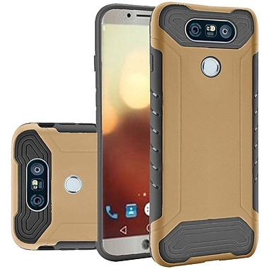 Insten Q Hybrid Dual Layer Slim Armor Hard PC/TPU Protective Case For LG G6 - Gold/Black