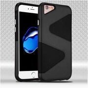 Insten Hard Hybrid TPU Cover Case For Apple iPhone 7 - Black