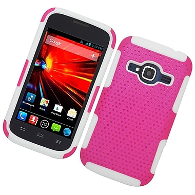 Insten Astronoot Hard Hybrid TPU Case For ZTE Concord II - Hot Pink/White
