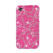 Insten Hearts Hard Diamante Cover Case For Apple iPhone 4/4S - Hot Pink