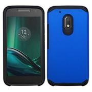 Insten Hard Hybrid Silicone Cover Case For Motorola Moto G4 Play - Blue/Black