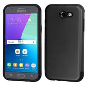 Insten Glossy Dual Layer Hybrid Hard TPU Cover Protective Case For Samsung Galaxy Express Prime 2 / J3 (2017) - Black