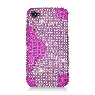 Insten Flowers Hard Diamond Case For Apple iPhone 4/4S - Hot Pink