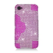 Insten Flowers Hard Diamond Case For Apple iPhone 4/4S - Hot Pink