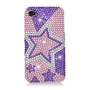 Insten Stars Hard Bling Cover Case For Apple iPhone 4/4S - Purple/Pink