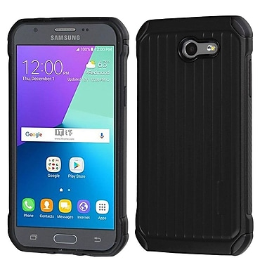 Insten Suitcase Dual Layer Hybrid Hard TPU Cover Protective Case For Samsung Galaxy Express Prime 2 / J3 (2017) - Black