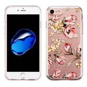 Insten Flowers Rubber Case For Apple iPhone 7 - Pink