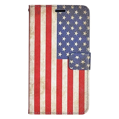 Insten United States National Flag Leather Case w/stand For LG Leon/Power/Tribute 2/Destiny/Risio - Colorful