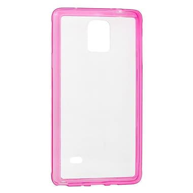 Insten Rubber Cover Case For Samsung Galaxy Note 4 - Clear/Pink