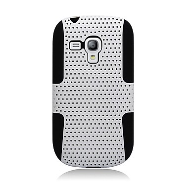 Insten Astronoot Hard Dual Layer TPU Cover Case For Samsung Galaxy S3 Mini - White/Black