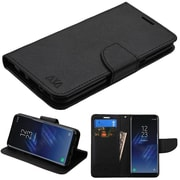Insten Liner MyJacket Leather Flip Wallet Credit Card Stand Case For Samsung Galaxy S8, Black