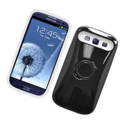 Insten Two-Tone/NightGlow Ring Stand Hybrid Jelly Hard Silicone Case Cover For Samsung Galaxy S3 - Black