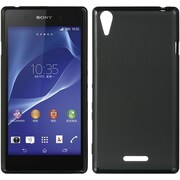 Insten Hard Crystal Skin Tinted Back Protective Case For Sony Xperia T3 - Black