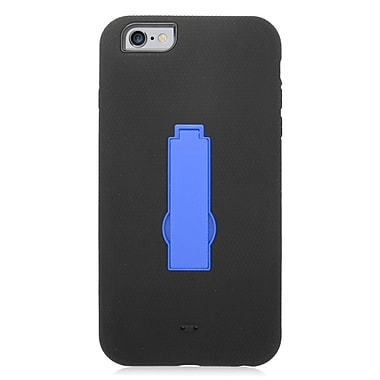 Insten Symbiosis Soft Hybrid Rubber Hard Case w/stand for iPhone 6s Plus / 6 Plus - Black/Blue