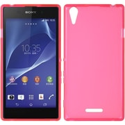 Insten Hard Crystal Skin Tinted Back Protective Case For Sony Xperia T3 - Hot Pink