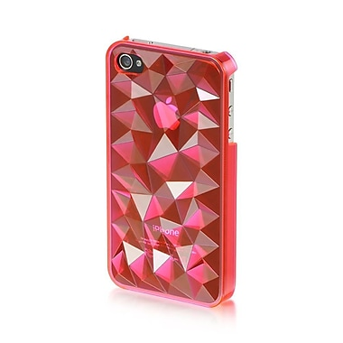 Insten Hard Plastic Case For Apple iPhone 4 / 4S - Hot Pink