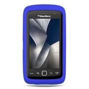Insten Skin Rubber Case For BlackBerry Torch 9850/9860 - Blue