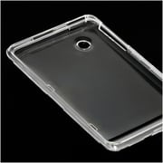 Insten Hard Rubber Case For HTC EVO View 4G Flyer - Clear