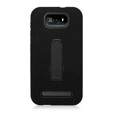 Insten Symbiosis Skin Dual Layer Rubber Hard Cover Case w/stand For BLU Studio 5.5 - Black