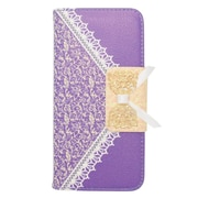 Insten Flip Leather Wallet Cover Case with card slot For Apple iPhone 6s / 6 - Purple/Gold