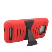Insten Wave Symbiosis Rubber Dual Layer Hard Cover Case w/stand For BLU Studio 5.5 - Red/Black