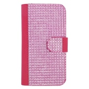 Insten Flip Leather Wallet Diamante Case with Card slot For Samsung Galaxy S6 Edge - Hot Pink