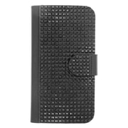Insten Leather Wallet Diamante Cover Case with Card slot For Samsung Galaxy S6 Edge - Black