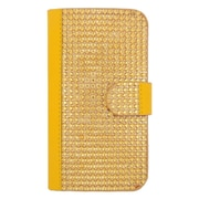 Insten Folio Leather Wallet Diamante Case with Card slot For Samsung Galaxy S6 Edge - Gold