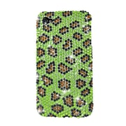 Insten Leopard Hard Diamante Cover Case For Apple iPhone 4/4S - Yellow/Black
