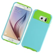 Insten Hard Hybrid Rubber Coated Silicone Cover Case For Samsung Galaxy S6 - Mint/Green