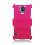 Insten Astronoot Hard Hybrid TPU Cover Case For Samsung Galaxy S5 - Hot Pink/White