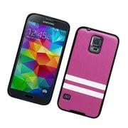 Insten Leather Fabric TPU Case For Samsung Galaxy S5 - Purple/Black