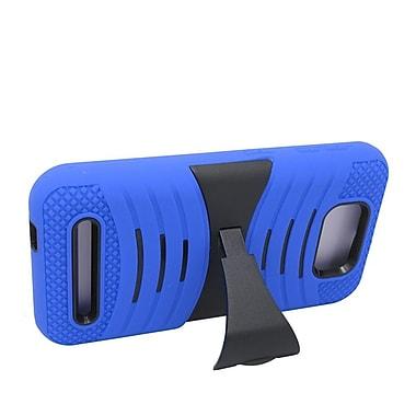 Insten Wave Symbiosis Silicone Hybrid Rubber Hard Case w/stand For BLU Studio 5.5 - Blue/Black