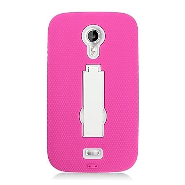 Insten Symbiosis Soft Hybrid Rubber Hard Cover Case w/stand For BLU Studio 5 - Pink/White