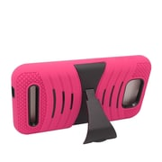 Insten Wave Symbiosis Skin Hybrid Rubber Hard Case w/stand For BLU Studio 5.5 - Hot Pink/Black