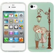 Insten TPU Imd Rubber Gel Back Case Cute Couple For Apple iPhone 4 / 4S