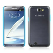 Insten PC+TPR Clear Hard Snap On Back Cover Case W/ Trim For Samsung Galaxy Note II - Clear/Blue
