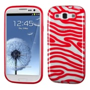 Insten Zebra TPU Cover Case For Samsung Galaxy S3 - Red/Clear