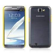 Insten PC+TPR Clear Hard Snap On Back Cover Case W/ Trim For Samsung Galaxy Note II - Clear/Yellow